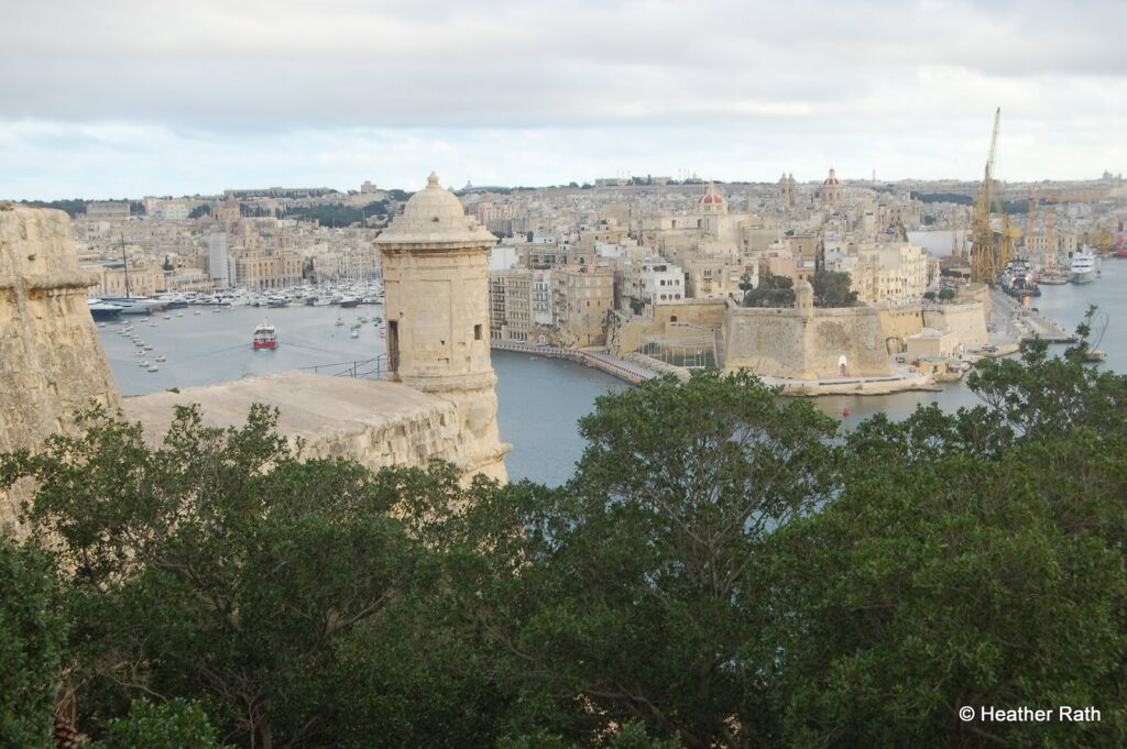 This is a view from Valletta, the capital, toward the Grand Harbour and port of Malta.