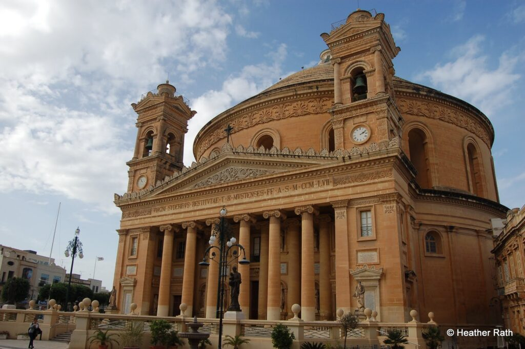 The Parish Church of Santa Maria, also known as the Mosta Dome.