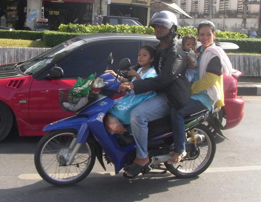Motorbikes in Thiland