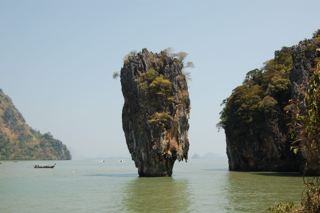 "Koh Tapuh aka ""Nail Island"" off the coast of Phang Nga"