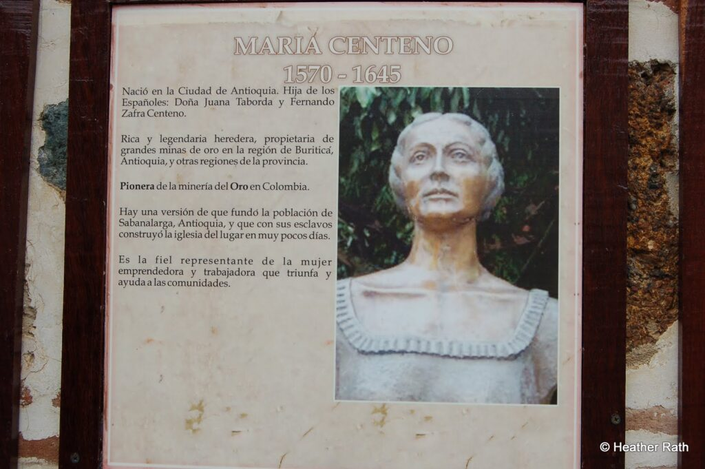 Maria Centeno, a famous gold digger in Colombia from the 1600s