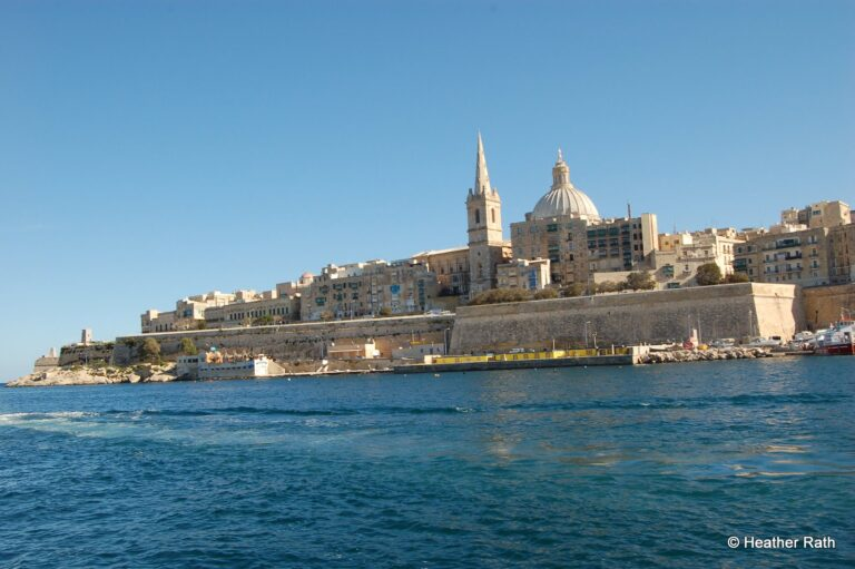 Sea view of Malta fortifications