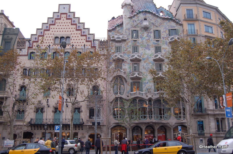 Casa Batlló, an apartment building in Barcelona designed by Gaudi