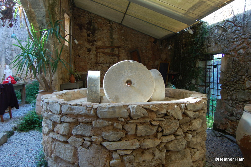 An old olive press