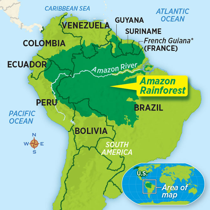 Map of Amazonia