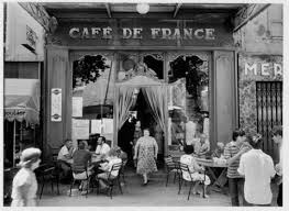 Café de France then - by Willy Ronis