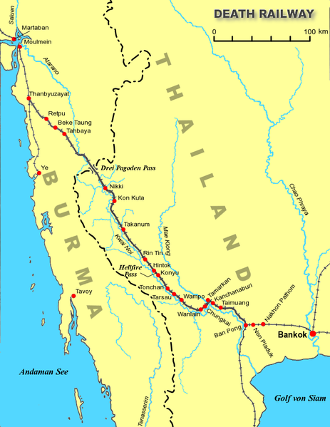 Map of the Death Railway.
