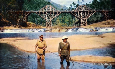 Scene from the movie 'Bridge on the River Kwai'.