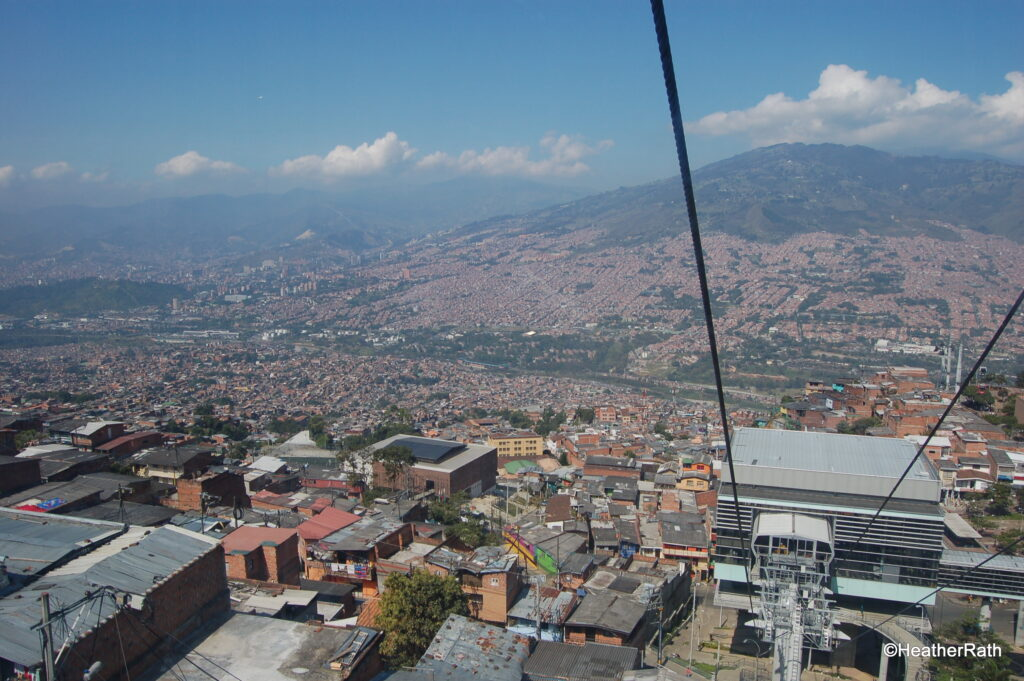 View of Medellín from cable car