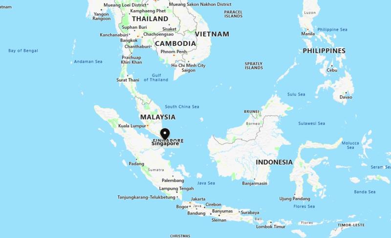 Map showing Singapore