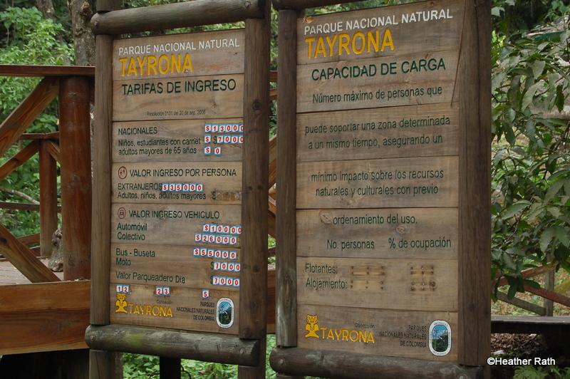 Entrance to Tayrona Park
