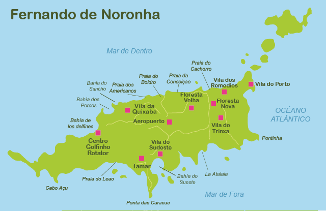 Map of Fernando de Noronha