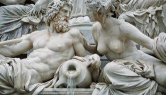 Zeus and his lover sculpture