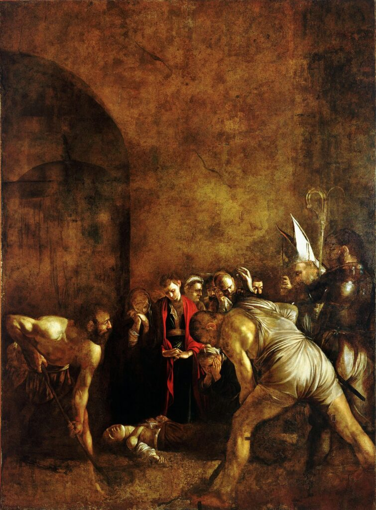 Burial of Saint Lucia by Caravaggio.
